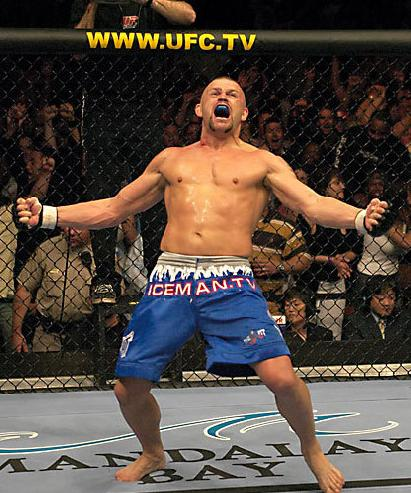 Chuck Liddell in the octagon